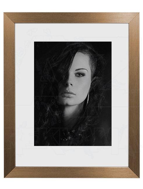 Hliníkový Foto rámeček 30 Zlatá matná A4