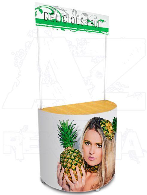 Promostolek v kombinaci plast - dřevo - ARAGON A-Z Reklama CZ