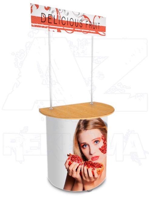 Promostolek v kombinaci plast - dřevo - FORWARD A-Z Reklama CZ