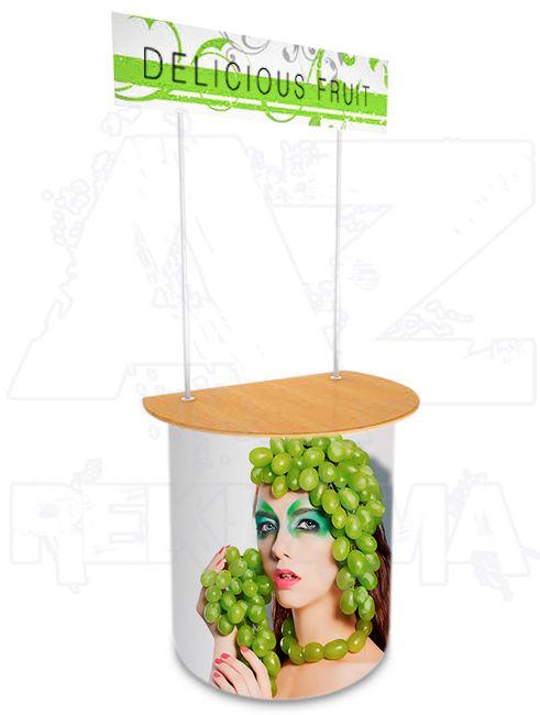 Promostolek v kombinaci plast - dřevo - SLIGHTER A-Z Reklama CZ