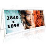 Tisk 1 ks banneru do outdoor A stojanu 3000x1250mm