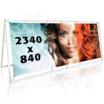 Tisk 2 bannerů do outdoor 2500x1000