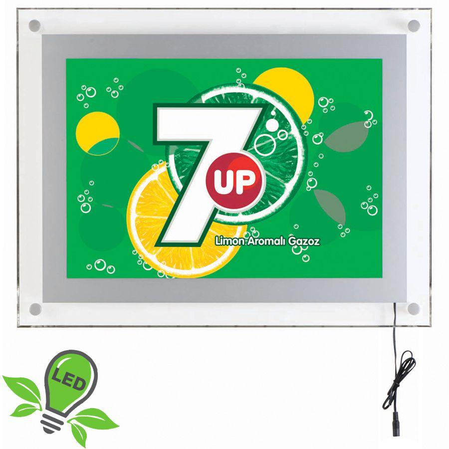 Akrylový prosvětlený LED rámeček A4 - Šedý