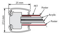 Světelný rám Smart Ledbox 25 - A2 Oboustranný A-Z Reklama CZ