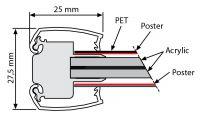 Světelný rám Smart Ledbox 25 - A3 Oboustranný A-Z Reklama CZ