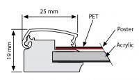 Světelný rám Smart Ledbox 25 - B1 Jednostranný A-Z Reklama CZ