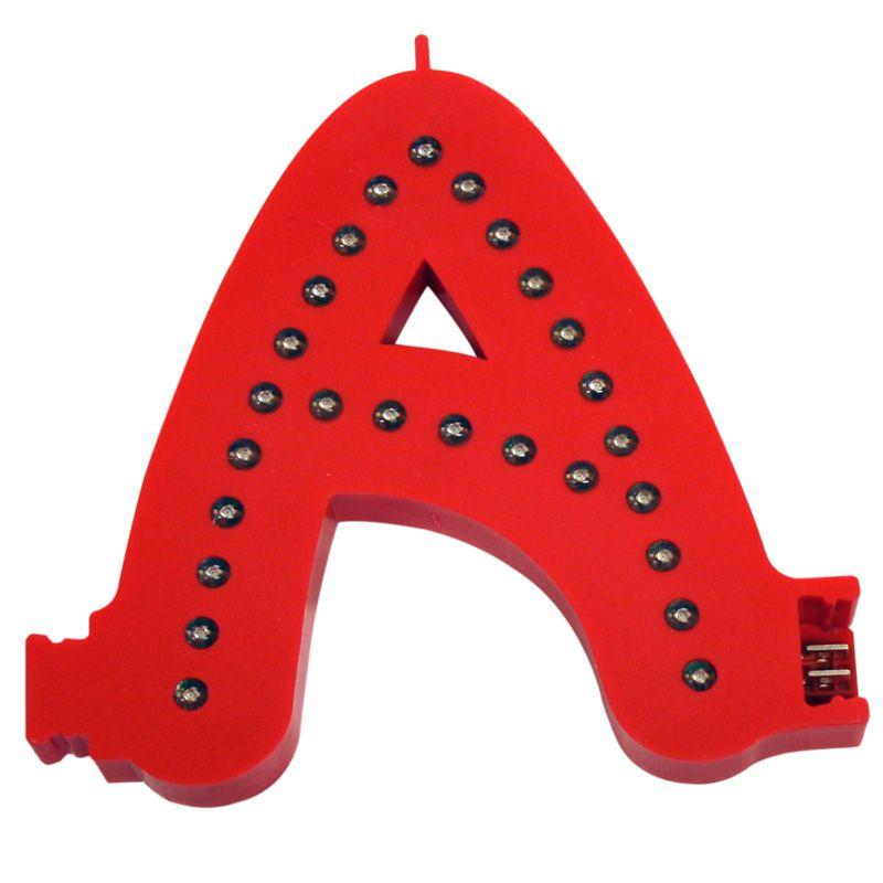 Modulární světelné LED písmeno abecedy - A