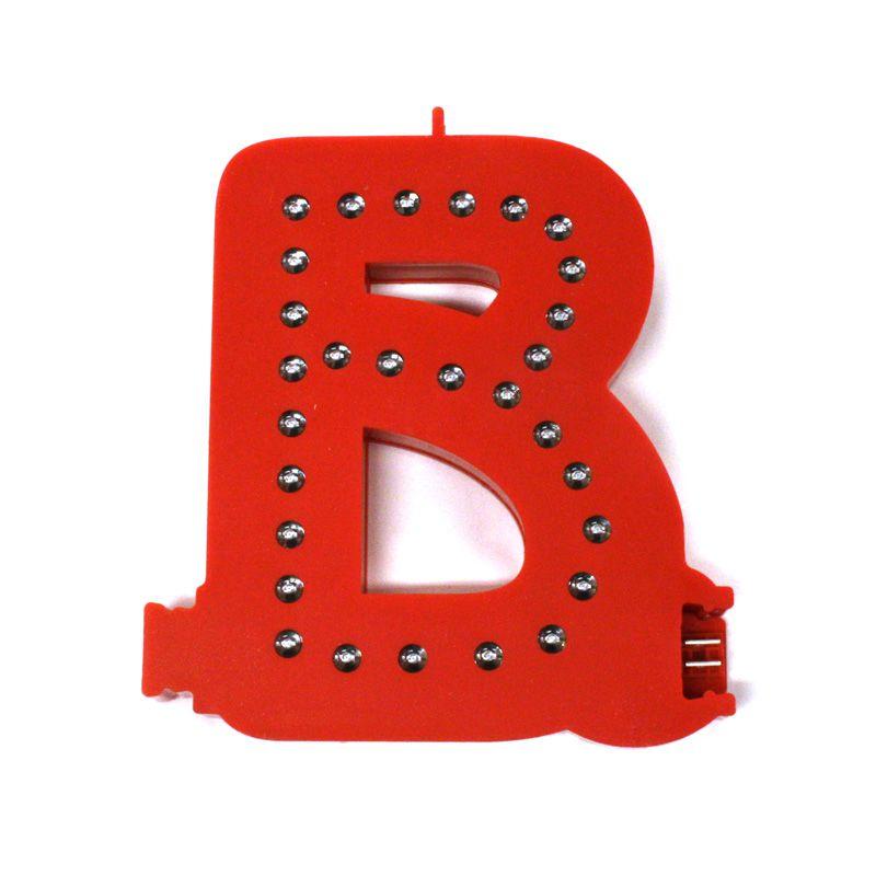 Modulární světelné LED písmeno abecedy - B