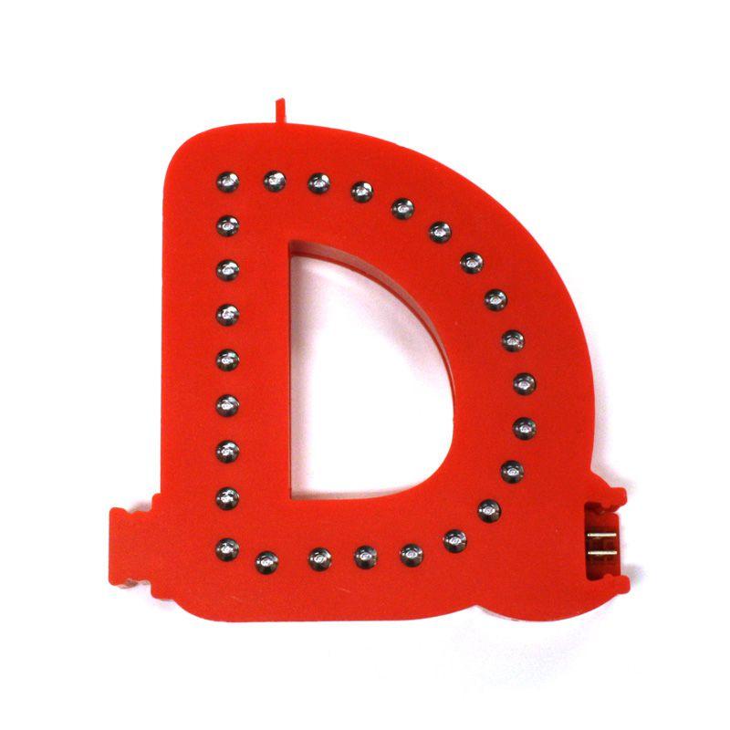 Modulární světelné LED písmeno abecedy - D
