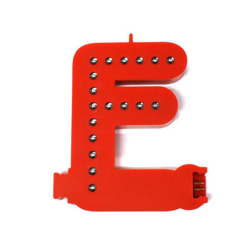 Modulární světelné LED písmeno abecedy - F