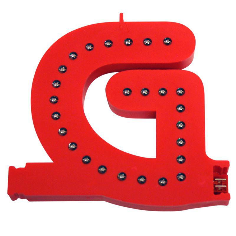 Modulární světelné LED písmeno abecedy - G