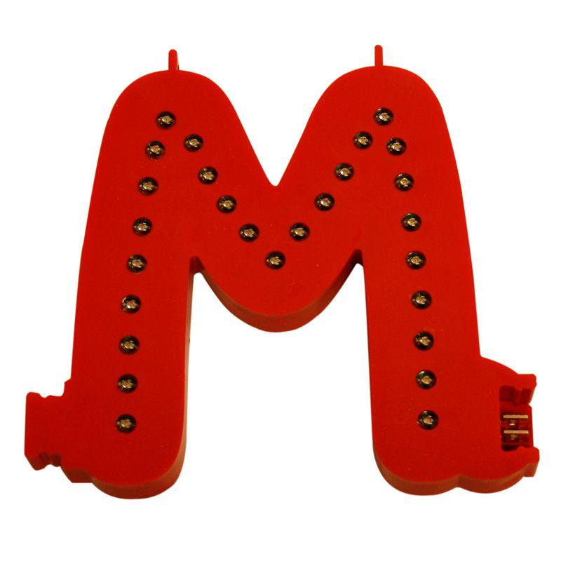 Modulární světelné LED písmeno abecedy - M