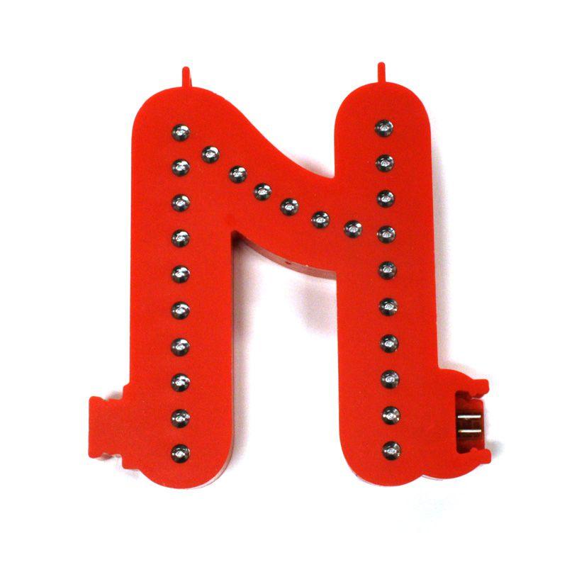Modulární světelné LED písmeno abecedy - N