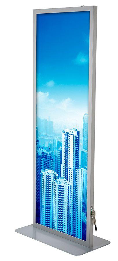 Světelný Magnetic Totem 2x A1 nad sebou - Stříbrný A-Z Reklama CZ