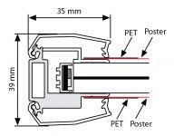 Světelný rám Smart Ledbox 35 - A4 Oboustranný A-Z Reklama CZ