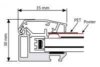 Uzamykatelný světelný rám Smart Ledbox 35 - B0 A-Z Reklama CZ