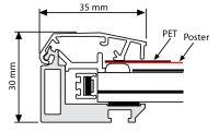 Venkovní světelný rám - Smart Ledbox 35 - A4 A-Z Reklama CZ