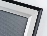 Hliníkový Clip rám Double Color Stříbrná/Černá B1 A-Z Reklama CZ