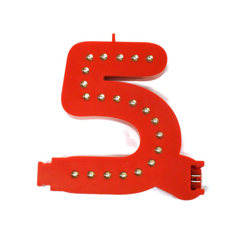 Modulární světelná LED číslice - 5