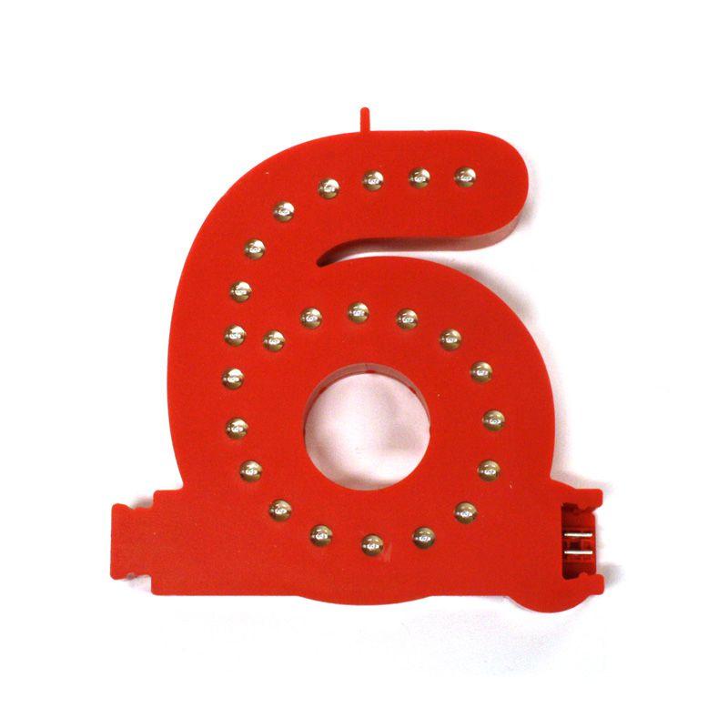 Modulární světelná LED číslice - 6