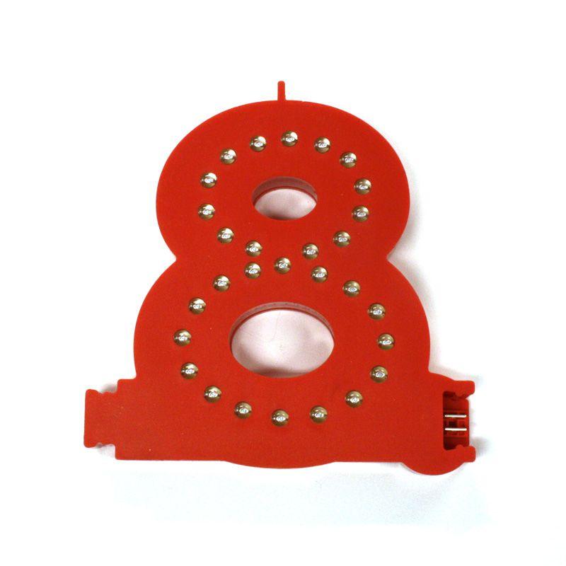 Modulární světelná LED číslice - 8