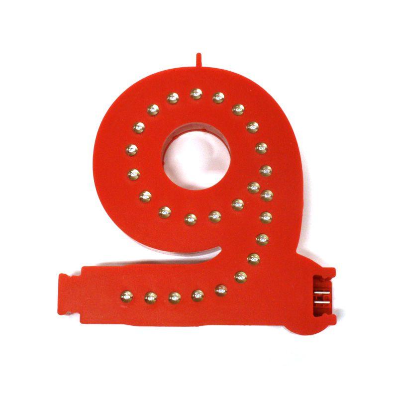 Modulární světelná LED číslice - 9