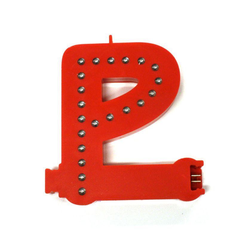 Modulární světelné LED písmeno abecedy - P