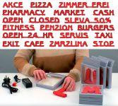 Modulární světelné LED písmeno abecedy - P A-Z Reklama CZ