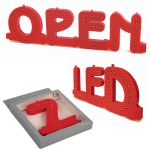 Modulární světelné LED písmeno abecedy - Q A-Z Reklama CZ