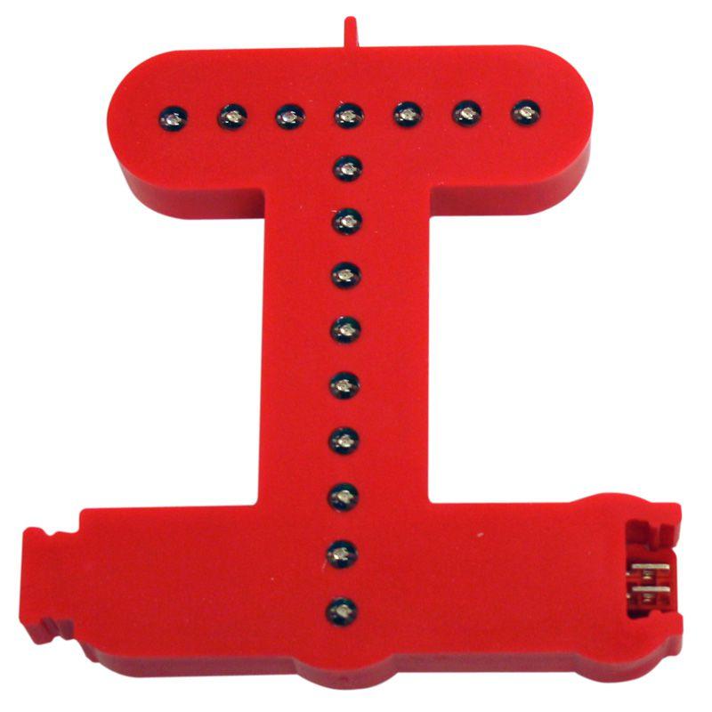 Modulární světelné LED písmeno abecedy - T