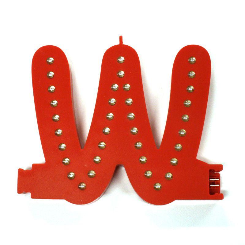 Modulární světelné LED písmeno abecedy - W A-Z Reklama CZ