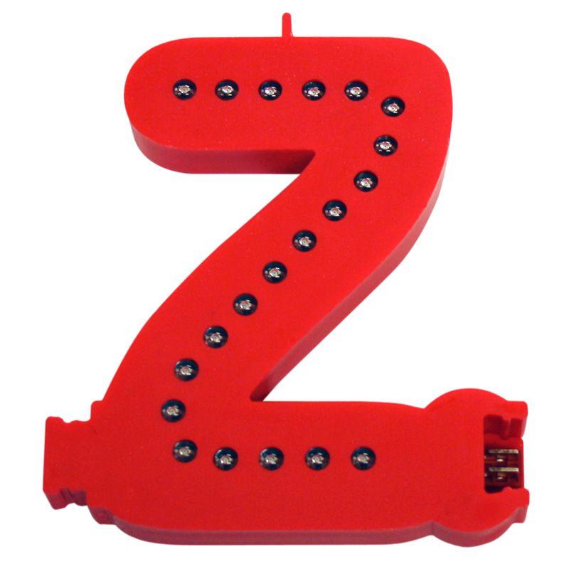 Modulární světelné LED písmeno abecedy - Z