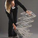Skládací stojan na letáky 3x A4 - Portable Acrylic A-Z Reklama CZ