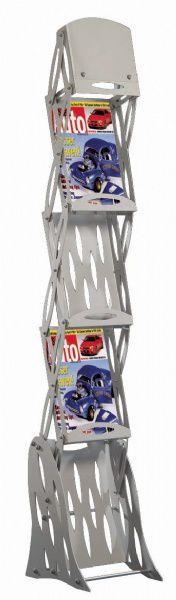 Skládací stojan na letáky 3x A4 - Portable Steel A-Z Reklama CZ