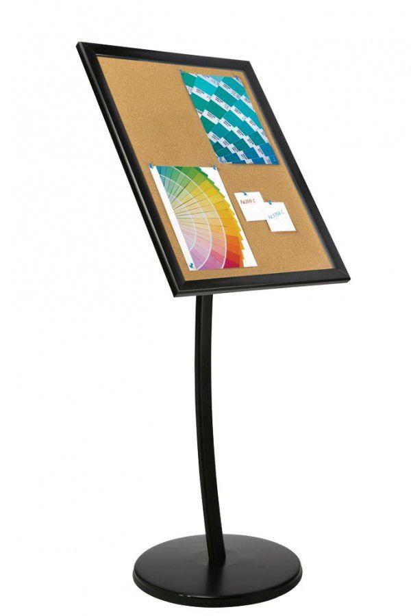 Univerzální vitrínka na noze pro 4x A4 - korkový povrch A-Z Reklama CZ