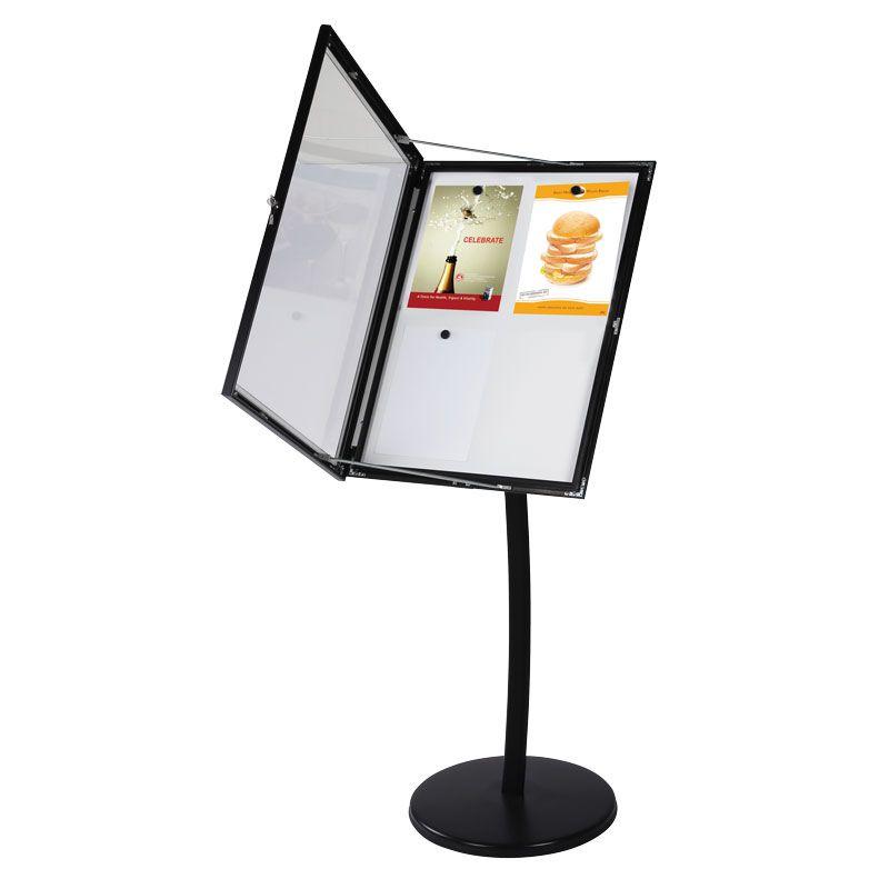 Univerzální vitrínka na noze pro 4x A4 - magnetická A-Z Reklama CZ