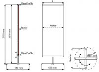 Banner display Cross 60x200 cm komplet s tiskem A-Z Reklama CZ