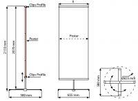 Banner display Cross 70x200 cm komplet s tiskem A-Z Reklama CZ