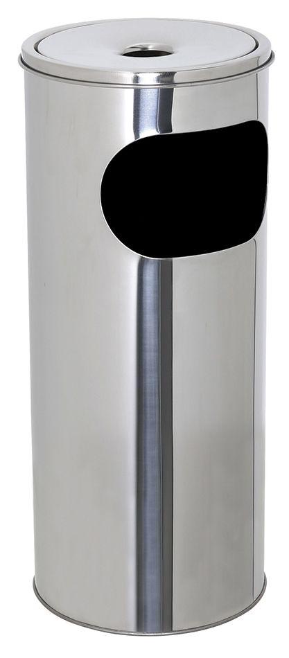 Kovový popelník s odpadkovým košem 12 l - Nerez