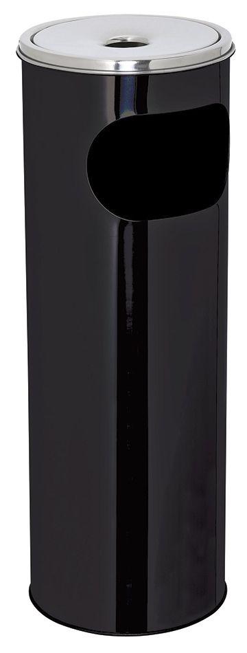 Kovový popelník s odpadkovým košem 30 l - Černý