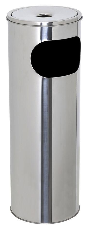 Kovový popelník s odpadkovým košem 30 l - Nerez