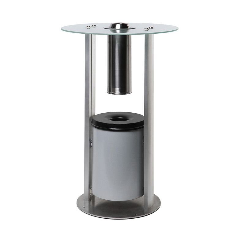 Kuřácký volně stojící stolek se skleněnou deskou