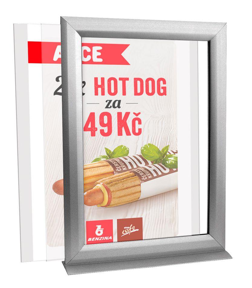 Oboustranný Slide-in rámeček A4 na výšku