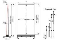 Výškově stavitelný Smart Roll Up Jednostranný - 90 A-Z Reklama CZ
