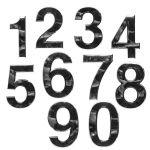 Chromované číslice sada 0-9