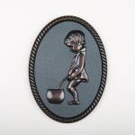 3D Dekor WC Muži - Bronzová