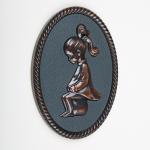 3D Dekor WC Ženy - Bronzová