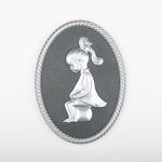 3D Dekor WC Ženy - Stříbrná