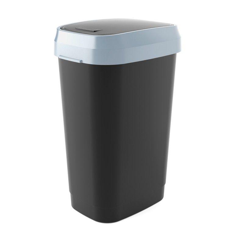 Koš na odpadky Dual Swing Bin L - 50 litrů, černý