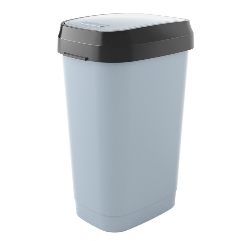 Koš na odpadky Dual Swing Bin L - 50 litrů, Šedý